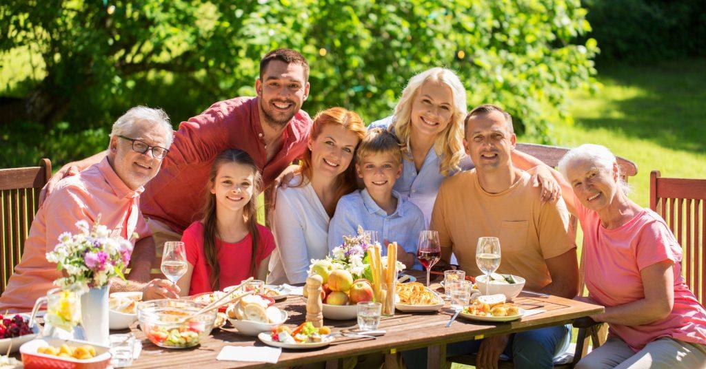 Spanska måltider familjehögtid